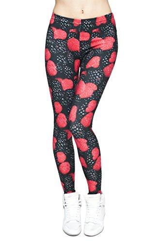 Cats Leggings für Damen/Mädchen, volle Länge, dehnbar, eignet sich für Sport/Laufen Blackberries
