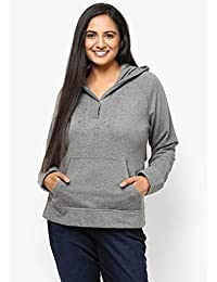 GRAIN Dark Grey Color Regular fit Cotton Jackets for Women