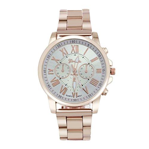 ❤️Amlaiworld Romain numéro GenevaWatch Montre quartz en acier inoxydable Montre-bracelet de cadran de sports Montre élégante de luxe❤️ (1, C)