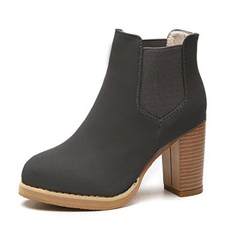 overdose-hauts-martin-boots-femme-ronde-tete-en-cuir-cheville-bottes-a-talons-38-gris