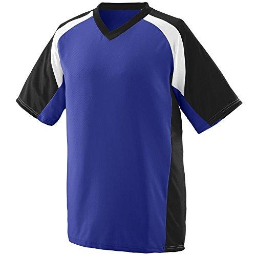 Augusta Herren T-Shirt Mehrfarbig - Violett / Schwarz / Weiß