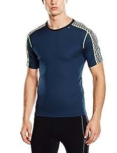 Helly Hansen Men's Dry Stripe T-Shirt, Deep Blue, XX-Small