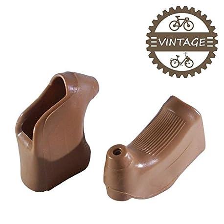 cyclingcolors Juego Gomas MANETAS Marron Palanca Campagnolo MAFAC Shimano 600 Arabesque Bicicleta DE Carretera Vintage Ciclismo