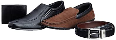 Maco Men's Combo Black and Brown Formal Shoes - 10 UK