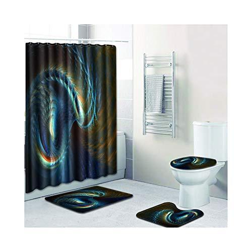 Knbob Badvorleger Set 7 Abstrakte Designs Stil 03 Wc Teppich Toilette 45X75Cm