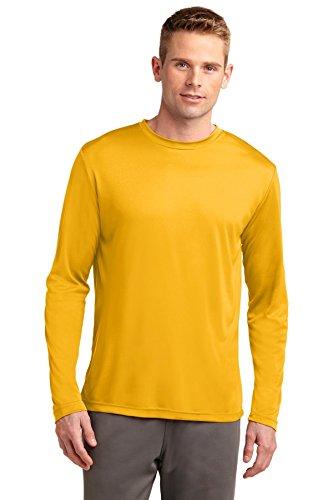 Sport-Tek Herren Asymmetrischer Langarmshirt Gold - Gold