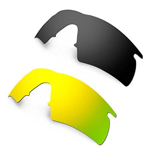 HKUCO Plus Mens Replacement Lenses For Oakley M Frame Hybrid - 2 pair