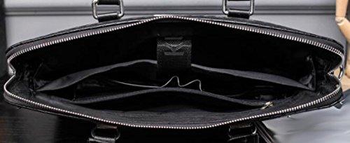 Herren Tasche Mode Handtasche Business Große Kapazität Computer Tasche Aktentasche Schwarz Handtasche Blue