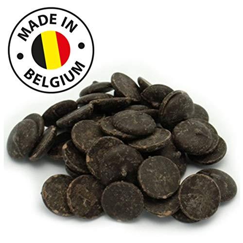 Echte Belgische Zartbitter Schokolade (2,5 kg) Kuvertüre Callets für Schokoladenbrunnen Fondue und alle Schokoladenrezepte