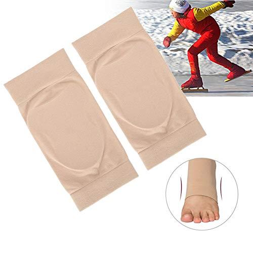Silikongel Fersen Fußschutz, weiche elastische Knöchelschutzhülle Silikon-Schutzkissen Atmungsaktive Fuß Fersenriss Socke, Stützknöchelbandage Hilft bei gebrochenen Fersen, Schmerzlinderung(Silikon)