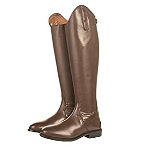 Bottes d'équitation en cuir Italie HKM Soft Cuir Noir Standard/courte 37-41 Marron 36