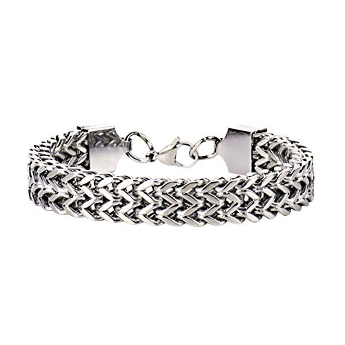 pushfocourag-Armband für Herren, klassisch, 5/10/12 mm breit, Vintage-Edelstahl, Schlangenkette, Cooler Schmuck, Beste Wahl für Frauen - 5 mm