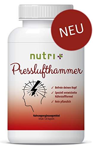 Presslufthammer Kapseln - MIGRA Nahrungsergänzung - von Ernährungswissenschaftlern entwickelte Nährstoffformel mit Vitamin B2 für Energiestoffwechsel & Nervensystem