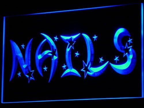 Lichtfluter i596-b Nails Star Neon Light sign Barlicht Lichtwerbung Neonlicht