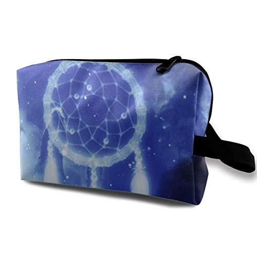 a7ec60702e07 with Wristlet Cosmetic Bags Dream Catcher Travel Portable Makeup Bag Zipper  Wallet Hangbag