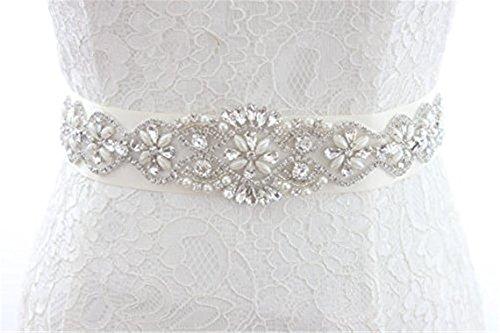 Trlyc da sposa o per applique cintura cintura da sposa matrimonio Sash applique trlyc champagne ribbon