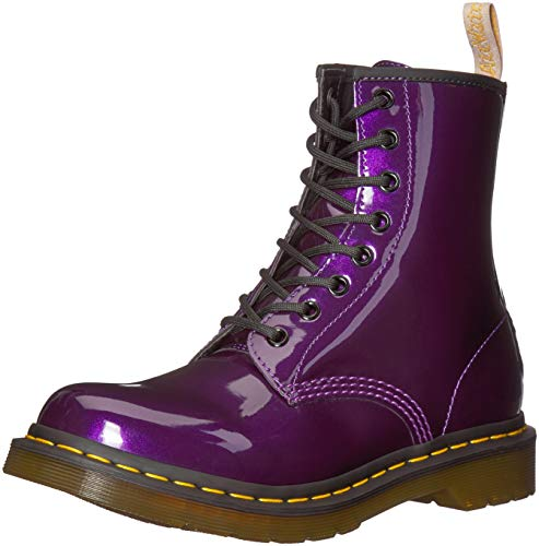 incomparable rico y magnífico más popular Dr. Martens 1460 W Vegan Chrome, Botines para Mujer, Morado (Dark Purple  514), 36 EU