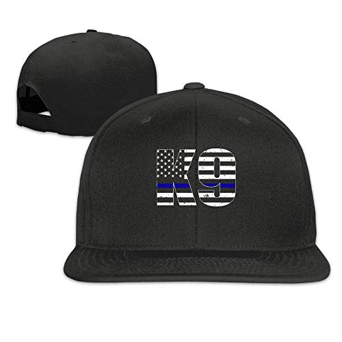 Police K9 Thin Blue Line Flat-Brimmed Hip-Hop Style Baseball Cap Outdoor Snapback Hat Royal Blue Scrub Cap