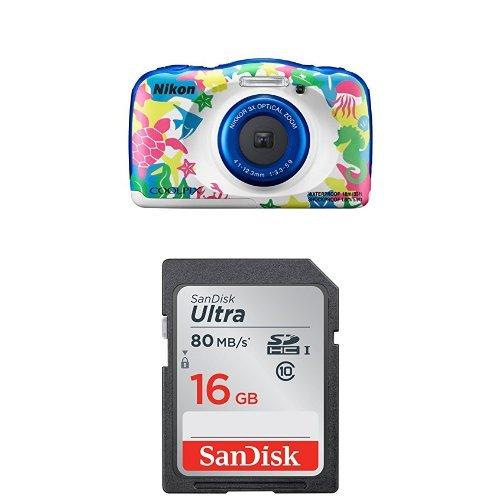 Nikon Coolpix W100 Marine Kompaktkamera + SanDisk Ultra 16GB Speicherkarte