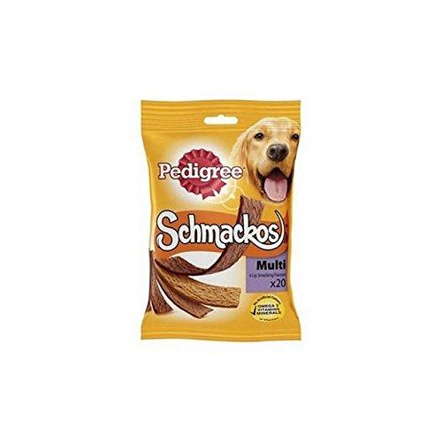 Rasse Schmackos Hund Behandelt Fleisch Sorte 20 X-Stick (172G)