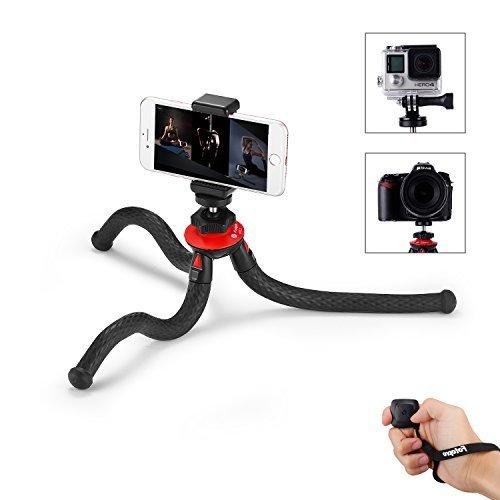 Handy Stativ, iPhone Stativ mit Bluetooth Fernbedienung, Telefonhalterung Adapter, Gopro Adapter für iPhone, Smartphone, Kamera, Gopro von Fotopro
