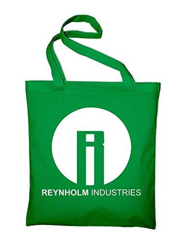 Reynholm Industries The IT Crowd Logo Jutebeutel, Beutel, Stoffbeutel, Baumwolltasche, gelb Grün