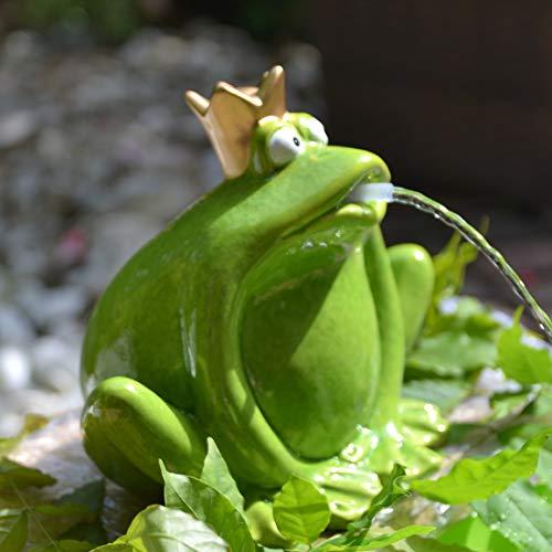Wasserspeier Froschpaar - lustiger großer stabiler Wasserspeier mit Pumpe für den Teich, - robuste Ausführung,zusammengebaut