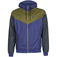 watch 66ae2 07ec7 Nike Windrunner Giacca, Uomo, 727324-410, Midnight Navy Olive Canvas