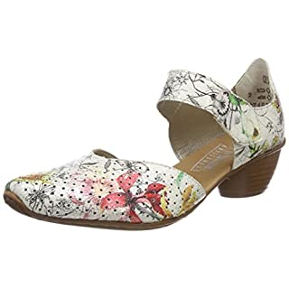 Rieker Women's 43789 Closed Toe Heels, Multicolour (ice-Multi 90), 5 UK