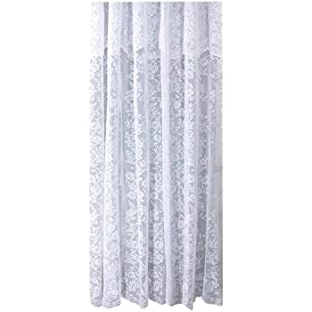 Exellent White Lace Shower Curtain Item Ricardo Romance Fabric With An Attached Valance 70 X 72 And Design Inspiration