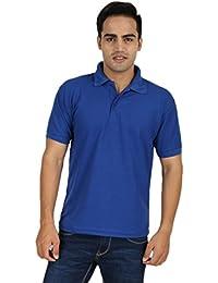ANSH FASHION WEAR Regular Fit Polo T-shirt For Men - Half Sleeves Casual Men's Polo - Royal Blue