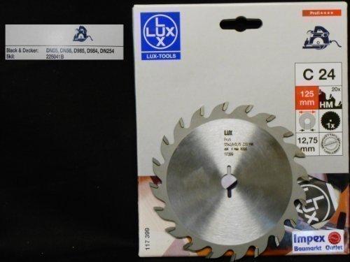 LUX OBI 117399 C24 Professionel HM-Lames de scie circulaire 125 x 12,75 mm 20 Z