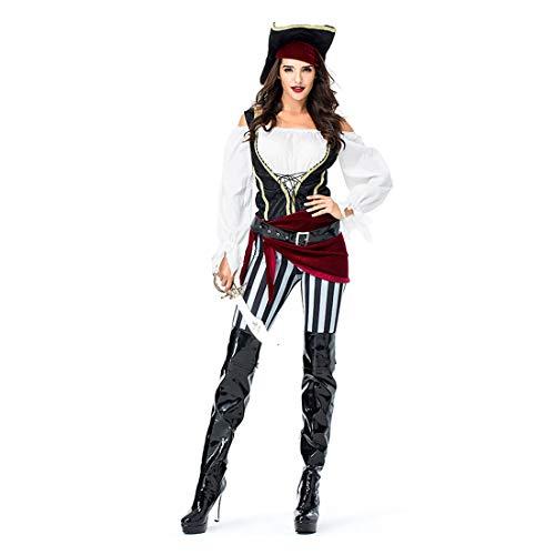 nspiele Piraten der Karibik Kostüm Sexy Buccaneer 6 Stück Cosplay Kostüm Set ()