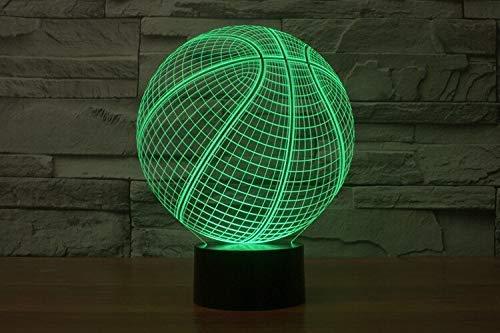 Usb 3D Led Nachtlicht 7 Farbwechsel Nachtlicht Berührungssensor Atmosphäre Tischlampe Nachttisch Illusion Projektor Basketball Team A-1955