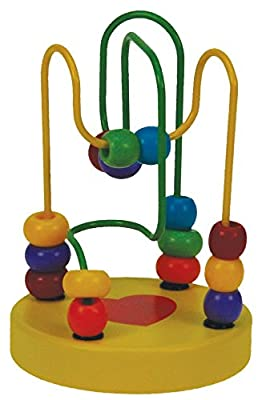 Colourful Wooden Mini Bead Maze Roller Coaster Educational Toy Baby & Toddler