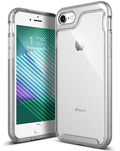 Funda iPhone 8, Funda iPhone 7, Caseology [serie Skyfall] cubierta protectora transparentee clara delgada antiaranazos con marco protector [Plata - Silver] para Apple iPhone 7 (2016) / iPhone 8 (2017)