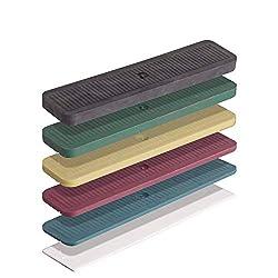 INNONEXXT® Premium Verglasungsklötze | 24 x 100 mm, 600 Stück | Made in Germany | Unterlegplatten, Abstandshalter, Distanzklötze aus Kunststoff | im Set: 1, 2, 3, 4, 5, 6 mm