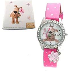 Boofle Girls Watch with Diamante Casing & Daisy Charm