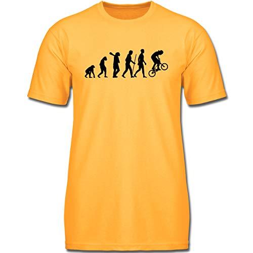 Evolution Kind - BMX Evolution - 140 (9-11 Jahre) - Gelb - F130K - Jungen Kinder T-Shirt