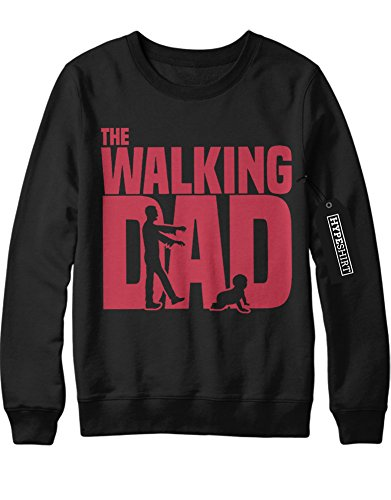 Sweatshirt The Walking Dad Catching Baby C978248 Schwarz (Baby Kostüme Carol)