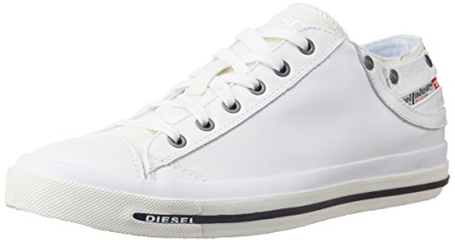 Diesel Herren Magnete Exposure Low I-Sneaker, Weiß (White), 44 EU (Low Exposure Sneaker)