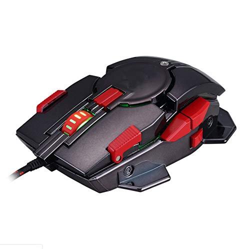 ERKEJI Maus wichtige Makro Definition Notebook spezielle Spiel mechanische Maus USB-Computermaus ergonomische
