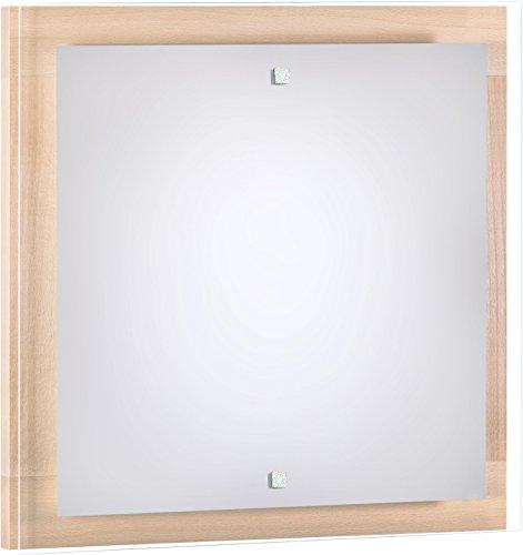 Wandleuchte Holz/Buche / 4x E27 bis 60 Watt 230V / Holz & Glas/Wandlampe Bauhaus/Wohnzimmer...