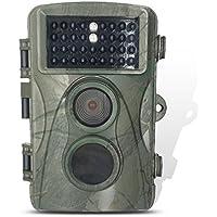 iBetter H3 macchina fotografica di caccia, da 8 megapixel 720P HD impermeabilizza la macchina fotografica del gioco telecamera di sorveglianza con 34 LED IR Pz per visione notturna, Time lapse 0,6 secondi trigger di velocità, 20m Attivazione Camera Distanza Camo Verde di caccia Scouting fotocamera digitale di sorveglianza