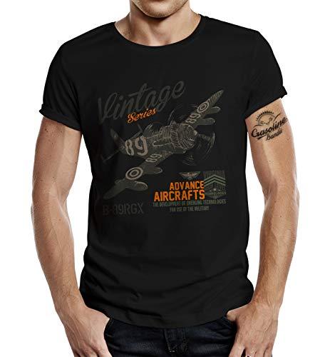T-Shirt für Airborne Racing US-Airforce Fans: Vintage Air 4XL -