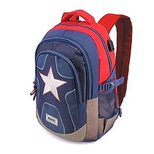 41Br6gYDi6L. SS300  - Capitán América Suit-Mochila Running HS