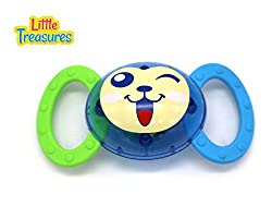 Joyous Rattle Toys 100% Safe And Non Toxic; Your Newborn Will Enjoy This Vibrant Cheerful Cartoon Faced Clutching Toy That Jingles When Shaken By Little Hand Putting A Lovely Smile