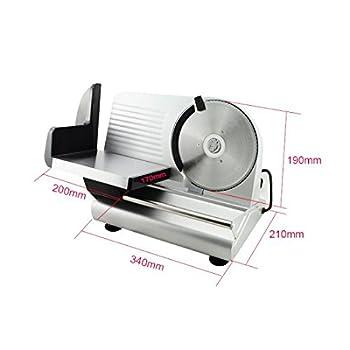 "Denshine 7.5"" Electric Stainless Steel Precision Food Slicer Meat Slicer Blade Machine For Commercial Restaurant Home Use 7"