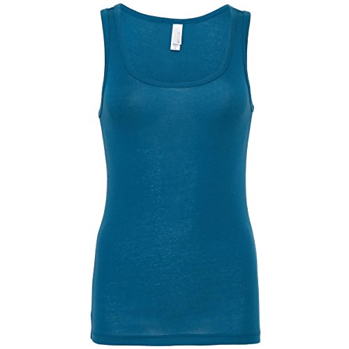 Bella+Canvas Sheer Rib Tank top Deep Teal L -