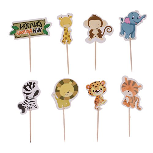 upcake Toppers Kuchen Picks Baby Dusche Dekor - Wildtier (Leopard Party Supplies)